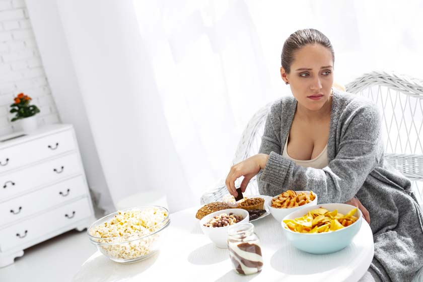 Grávida com dúvida sobre alimentação na gravidez
